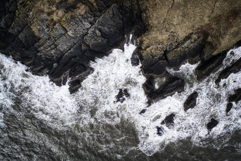 United Kingdom, Scotland, Aerial view of rocky coast - MJOF01499
