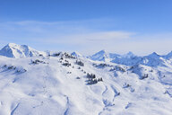 Snow covered mountain landscape, Gstaad, Switzerland - CUF07354