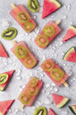 Homemade watermelon kiwi ice lollies - RTBF01283