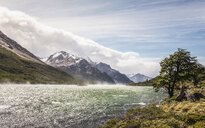 Misty river in mountain valley in Los Glaciares National Park, Patagonia, Argentina - CUF08048