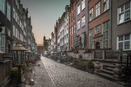 Poland, Gdansk, alley with cobblestone pavement - HAMF00277