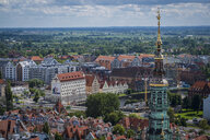Poland, Gdansk, view to the city from above - HAMF00280