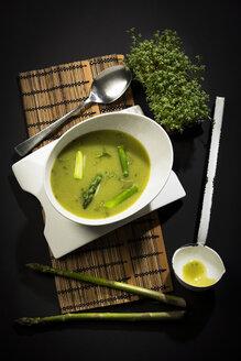 Asparagus cream soup with green asparagus - MAEF12594