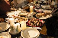 Caribbean food on Christmas dinner table - CAIF20517