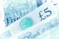 Close up five pound note - CAIF20532