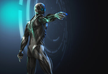 Futuristic anatomical model pointing - CAIF20553
