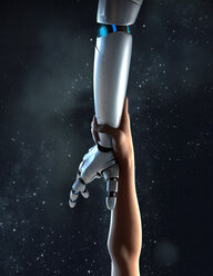 Computer generated image arm reaching for robotic arm - CAIF20568