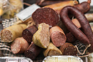 Butchery, various sorts of sausage - AFVF00459