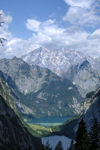 Germany, Bavaria, Berchtesgaden Alps, Koenigssee, Obersee, Watzmann - HAMF00304