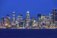 USA, Washington State, Seattle, Skyline at blue hour - MMAF00360