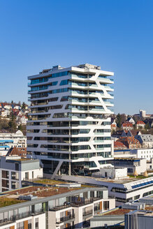 Germany, Stuttgart, residential tower Cloud No. 7 - WDF04667
