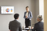 Young businesswoman doing office presentation - CUF12297