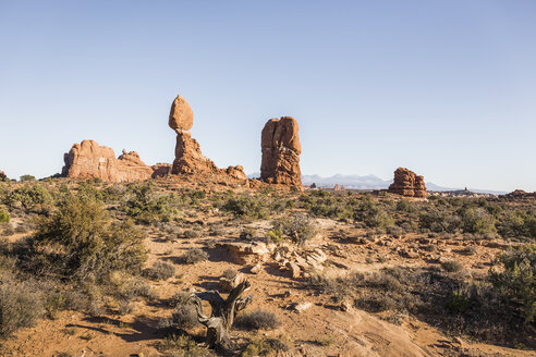 Rock formation, Arches National Park, Moab, Utah, USA - CUF12762