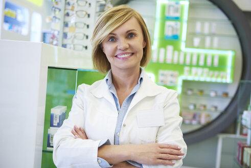 Portrait of smiling pharmacist - ABIF00412