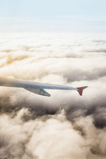 Airplane wing above the clouds - ISF03494