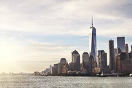 Cityscape and skyline with One World Trade Centre, Lower Manhattan, New York, USA - ISF04379