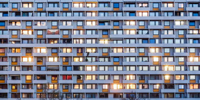 Germany, Stuttgart, Hallschlag, partial view of apartment tower - WDF04672