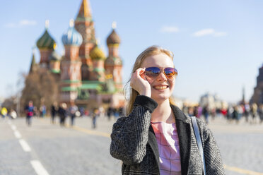 Russia, Moscow, teenage girl, portrait on the Red Square - WPEF00328