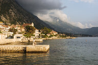 Young man standing on pier looking away, Kotor, Montenegro, Europe - ISF05698