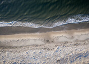USA, Virginia, Aerial view of Virginia Coast Reserve, Atlantic Ocean, beach - BCDF00352