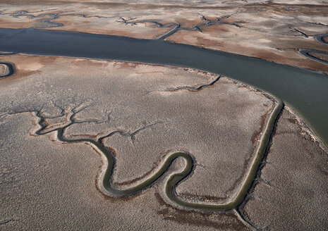 USA, Virginia, Aerial view of Virginia Coast Reserve, marshland - BCDF00358