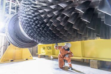 Gas turbine under repair in gas-fired power station - CUF18088