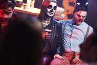 Couple in creepy costume at Halloween party - ABIF00481
