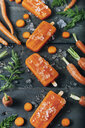 Carrot ice popsicles - RTBF01289