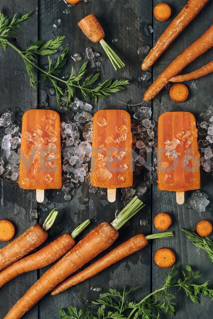Carrot ice popsicles - RTBF01292