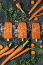 Carrot ice popsicles - RTBF01292