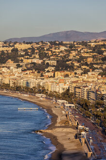 France, Provence-Alpes-Cote d'Azur, Nice, Promenade des Anglais in the morning light - ABOF00361