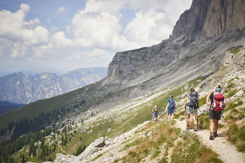 Rear view of hikers on mountain path, Austria - CUF21054