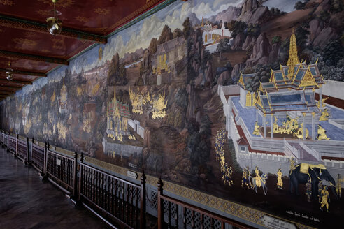 Thailand, Bangkok, Grand Palace, wall painting - HL01090