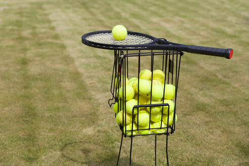 Tennis balls in basket - KLRF00589