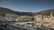 View of marina with yachts and boats, Monte Carlo, Monaco - CUF21996