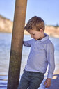 Portrait of boy standing on the beach - BEF00125