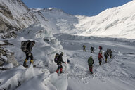 Nepal, Solo Khumbu, Everest, Sagamartha National Park, Mountaineers at Western Cwm - ALRF01231