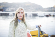 Portrait of young woman at Lake Como, Como, Italy - CUF23736