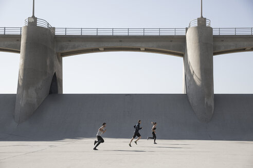 Athletes jogging, Van Nuys, California, USA - ISF09398