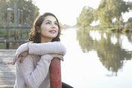 Young woman enjoying park - CUF26711