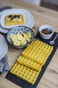 Waffles, banana slices and chocolate shaving - GIOF03966