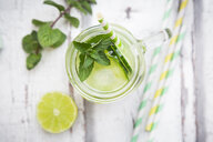 Organic cucumber water with mint and lime - LVF07063