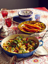 Still life of Moroccan harissa dish with carrots - CUF28448
