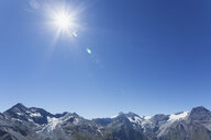 Austria, High Tauern National Park, peaks of Glockner Group against sun - GWF05522