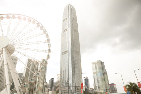 Observation wheel and central skyline, Hong Kong, China - CUF30460