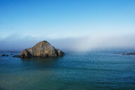 Island and morning mist, Elk, mendocina California, USA - CUF30699