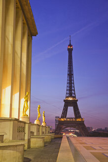 The Eiffel Tower seen from the Trocadero in Paris, France - CUF30900
