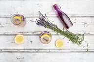 Homemade lavender lemonade with lemon, lavender sirup - LVF07088