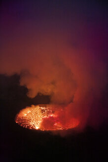 Africa, Democratic Republic of Congo, Virunga National Park, Nyiragongo volcano - REAF00307