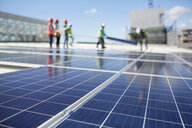 Solar panels at sunny power plant - CAIF20770